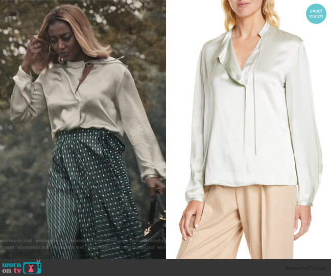 Silk Satin Blouse by Vince worn by Daisy Grant (Patina Miller) on Madam Secretary