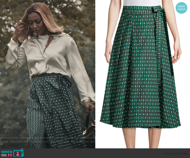 Printed A-Line Midi Skirt by Weekend Max Mara worn by Daisy Grant (Patina Miller) on Madam Secretary