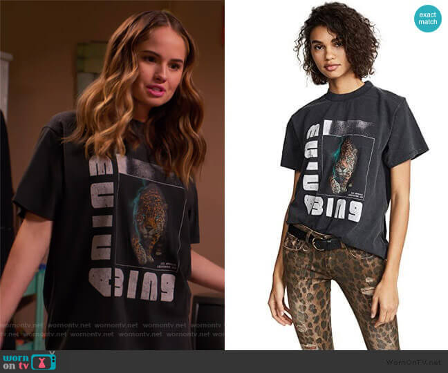 Wild Cat T-Shirt by Anine Bing worn by Patty Bladell (Debby Ryan) on Insatiable