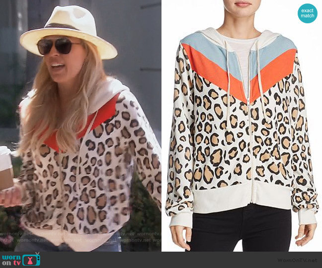 Hellcat Leopard Print Hoodie by Wildfox worn by Braunwyn Windham-Burke  on The Real Housewives of Orange County
