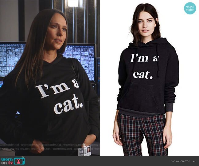 I'm a Cat Hoodie by Wildfox worn by Maddie Kendall (Jennifer Love Hewitt) on 9-1-1