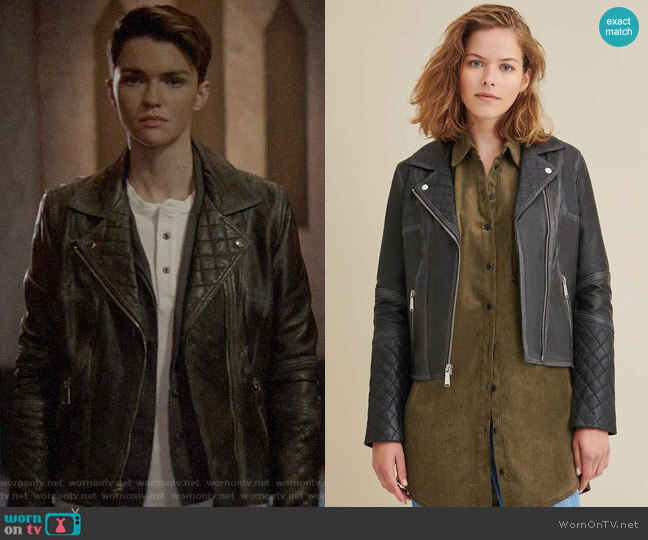 Wilsons Leather Leather Moto Jacket worn by Kate Kane (Ruby Rose) on Batwoman