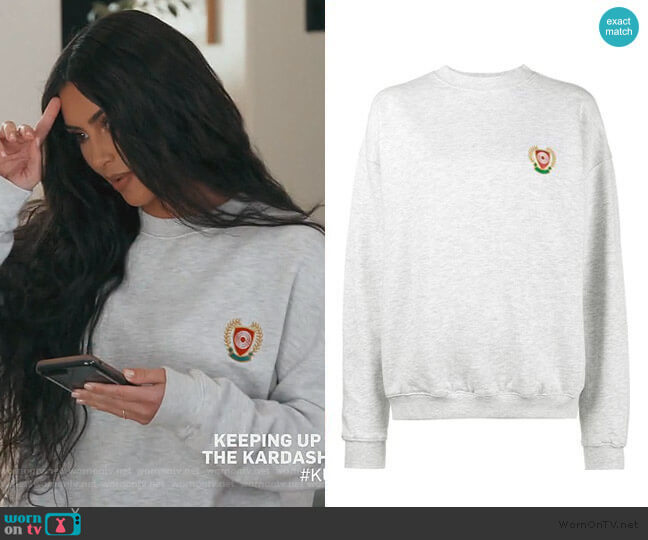 Calabasas Crest Hoodie by Yeezy worn by Kim Kardashian  on Keeping Up with the Kardashians