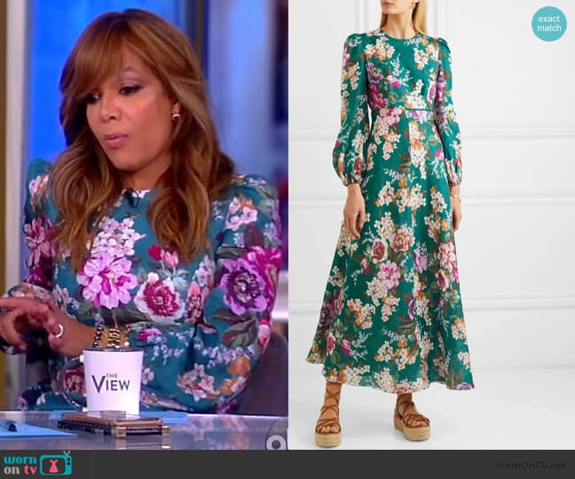 Allia floral-print linen maxi dress by Zimmermann worn by Sunny Hostin  on The View