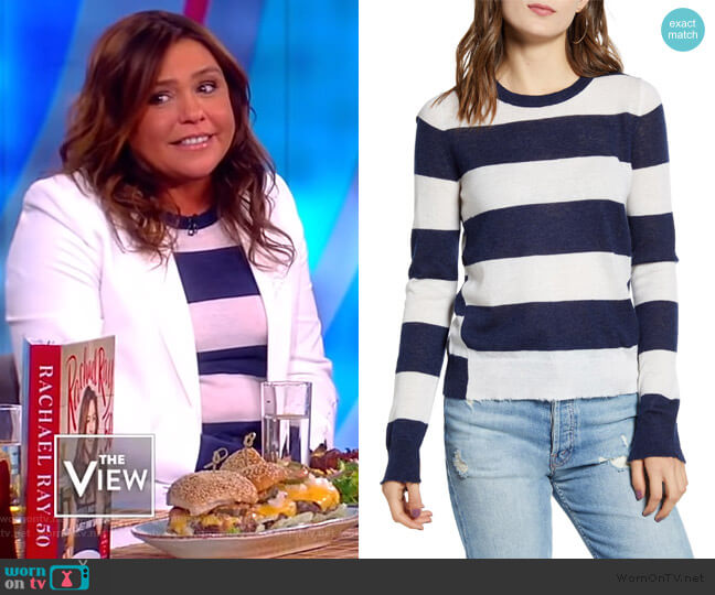 Source Stripe Cashmere Sweater by Zadig & Voltaire worn by Rachel Ray on The View