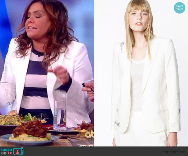 Victor Strass Blazer by Zadig & Voltaire worn by Rachel Ray on The View