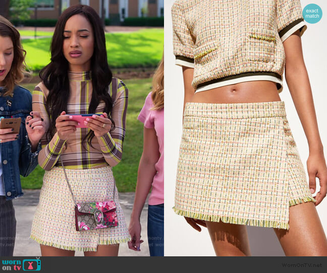 Bermuda Skort by Zara worn by Magnolia Barnard (Erinn Westbrook) on Insatiable
