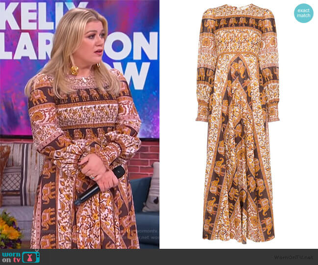 Suraya Maxi Dress by Zimmermann worn by Kelly Clarkson  on The Kelly Clarkson Show