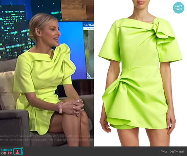 Bronte Draped Dress by Acler worn by Morgan Stewart  on E! News