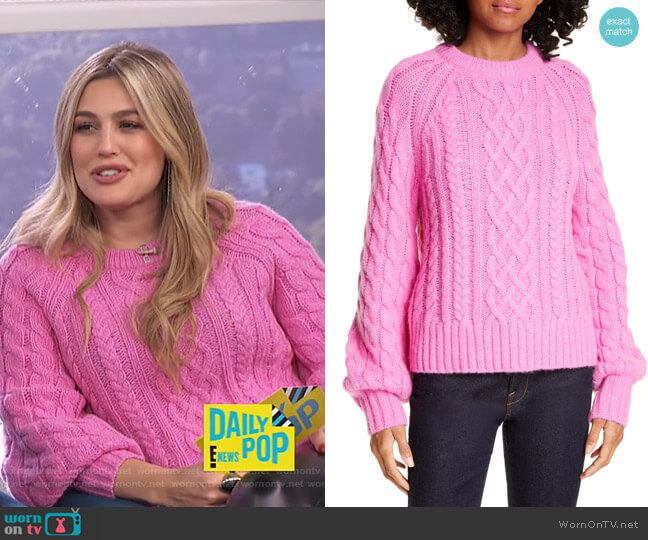 Mick Sweater by A.L.C. worn by Carissa Loethen Culiner  on E! News
