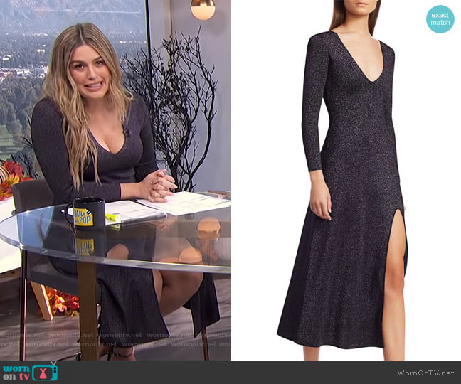 Serafina Dress by A.L.C. worn by Carissa Loethen Culiner  on E! News