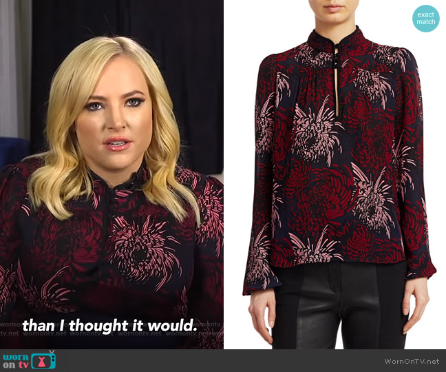 Beatrix Blouse by A.L.C. worn by Meghan McCain on GMA