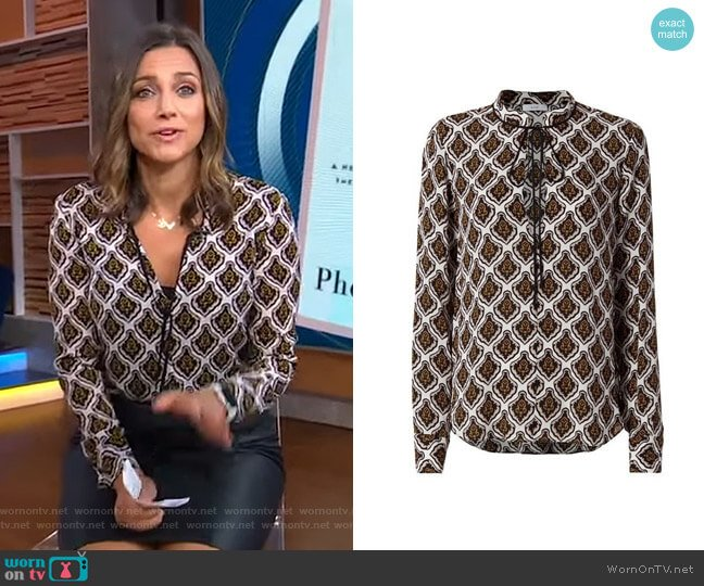 Danielle Mombasa Blouse by ALC worn by Paula Faris  on Good Morning America