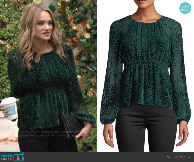 A.L.C. Karen Top worn by Summer Newman (Hunter King) on The Young & the Restless