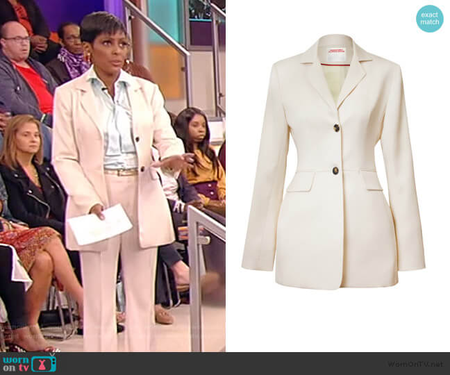 Single-Breasted Wool Jacket by Alejandra Alonso Rojas worn by Tamron Hall  on Tamron Hall Show