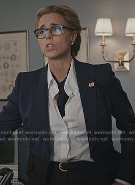 Elizabeth's two tone blazer on Madam Secretary