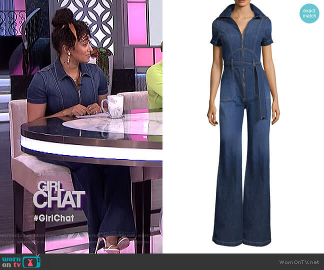 Gorgeous Wide-Leg Jumpsuit by Alice + Olivia Jeans worn by Tamera Mowry  on The Real