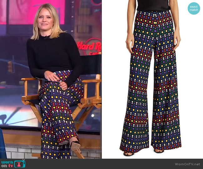 Athena Pants by Alice + Olivia worn by Sara Haines  on Good Morning America