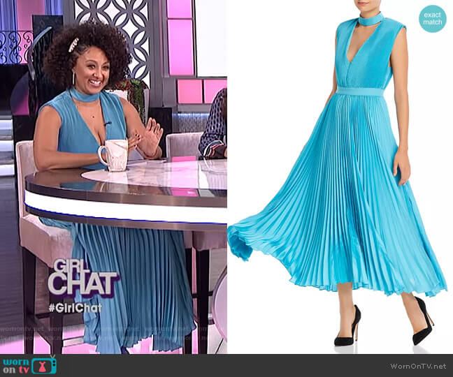 Joleen Dress by Alice + Olivia worn by Tamera Mowry  on The Real