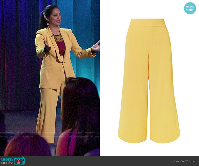 Alice + Olivia Donald Pants worn by Lilly Singh  on A Little Late with Lilly Singh