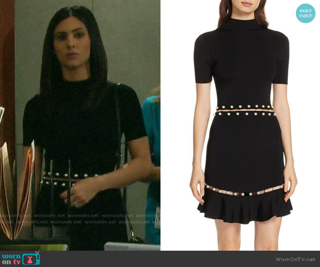 Alice + Olivia Evelyn Dress worn by Gabi Hernandez (Camila Banus) on Days of our Lives