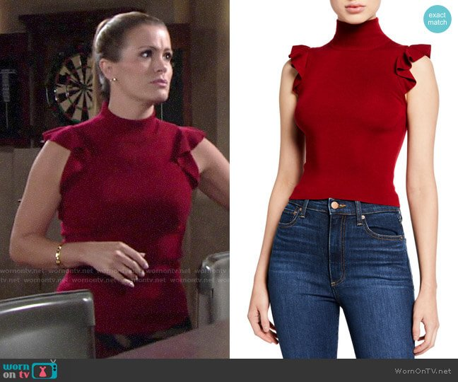 Alice + Olivia Lamara Top worn by Chelsea Lawson (Melissa Claire Egan) on The Young & the Restless