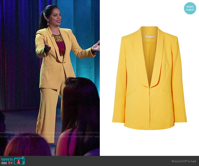 Alice + Olivia Skye Blazer worn by Lilly Singh  on A Little Late with Lilly Singh