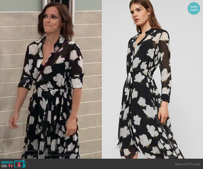 All Saints Riva Caro Dress worn by Hayden Barnes (Rebecca Budig) on General Hospital