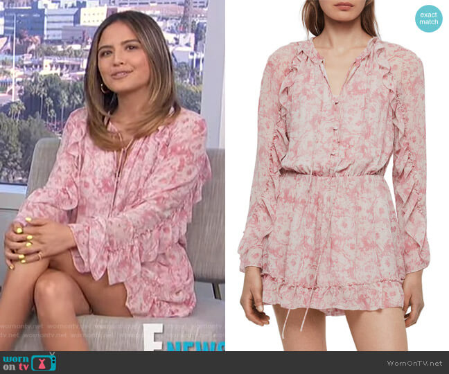 Flora Rosa Romper by All Saints worn by Erin Lim  on E! News