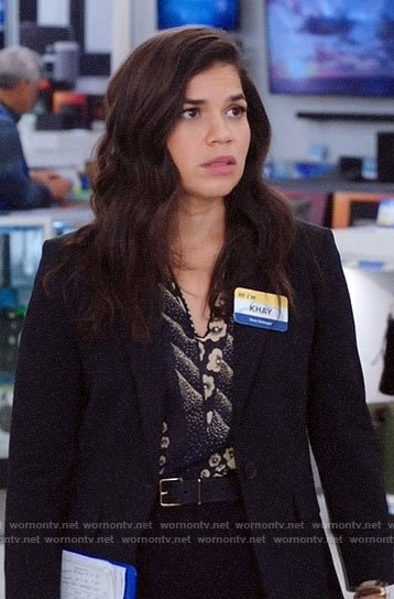 Amy's mixed print blouse on Superstore