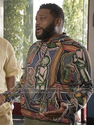 Andre's art print hoodie on Black-ish