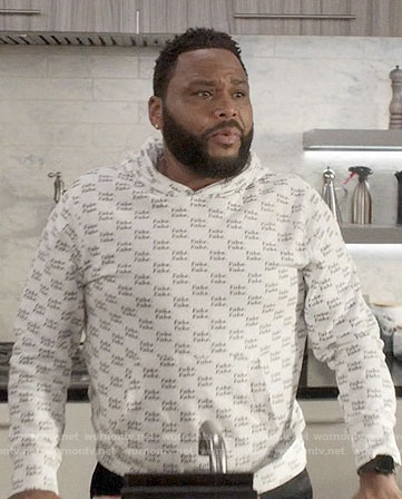Andre's FAKE hoodie on Black-ish