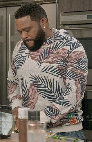 Andre's palm leaf print hoodie on Black-ish