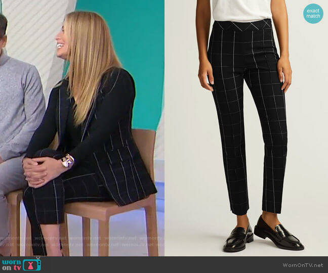 Grid Plaid Slim Ankle Pant by Argent worn by Jill Martin  on Today