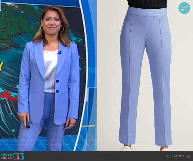 Slim Ankle Pant by Argent worn by Ginger Zee  on Good Morning America