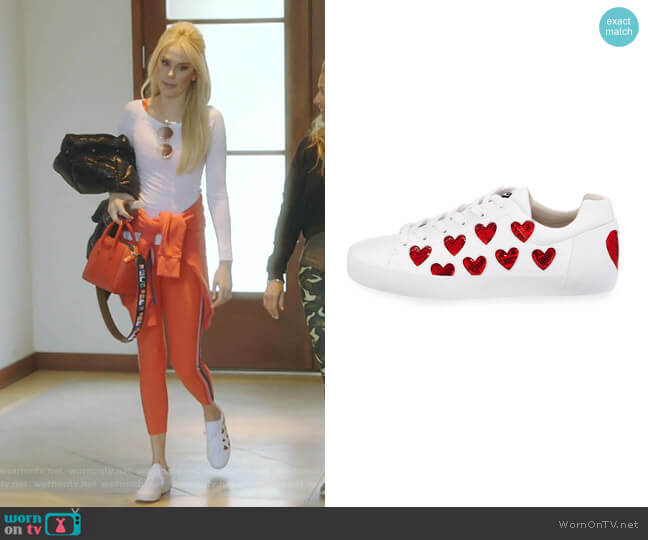 Nikita Sequin Heart Sneakers by Ash worn by Kameron Westcott  on The Real Housewives of Dallas