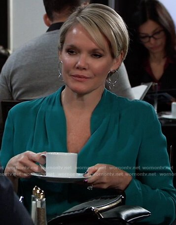 Ava's green blouse on General Hospital