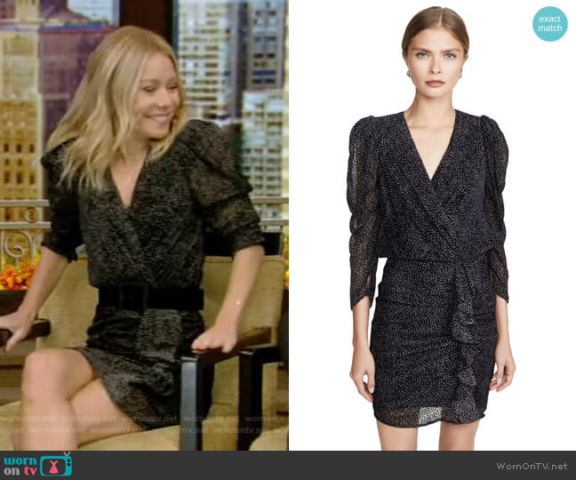 Celia Dress by Ba&Sh worn by Kelly Ripa  on Live with Kelly & Ryan