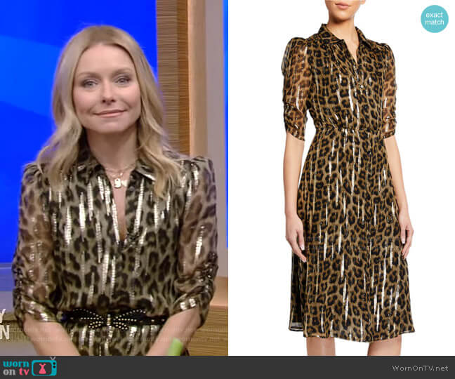 Jozy Dress by Ba&Sh worn by Kelly Ripa  on Live with Kelly & Ryan