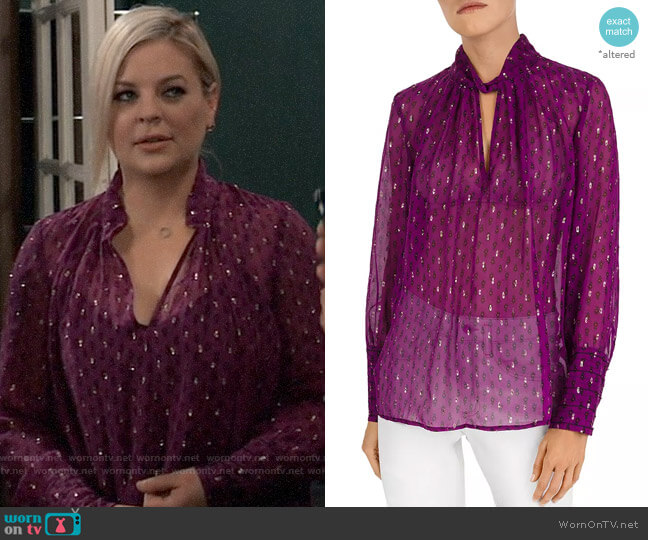 BA&SH Cabri Top worn by Maxie Jones (Kirsten Storms) on General Hospital