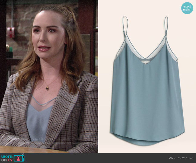Babaton Galen Camisole worn by Mariah Copeland (Camryn Grimes) on The Young & the Restless