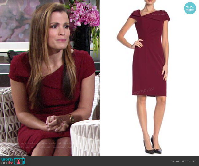 Badgley Mischka Cap Sleeve Dress worn by Chelsea Lawson (Melissa Claire Egan) on The Young & the Restless