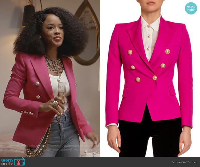Classic 6-Button Blazer by Balmain worn by Tiana Brown (Serayah McNeill) on Empire