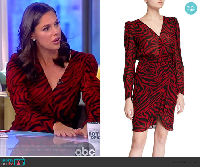 Saphir Zebra-Print Short Dress by Ba&sh worn by Abby Huntsman  on The View