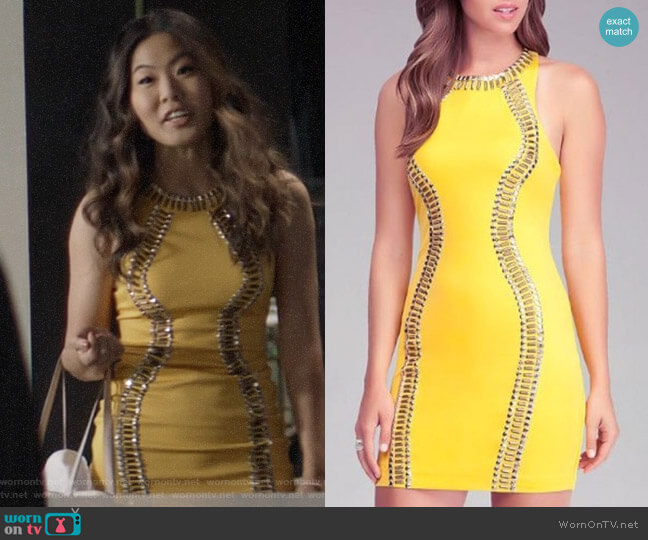 Bebe Studded Bodycon Dress worn by Mary Hamilton (Nicole Kang) on Batwoman