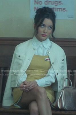 Bess's white tweed jacket on Nancy Drew