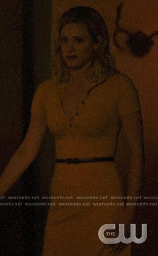 Betty's yellow polo dress on Riverdale