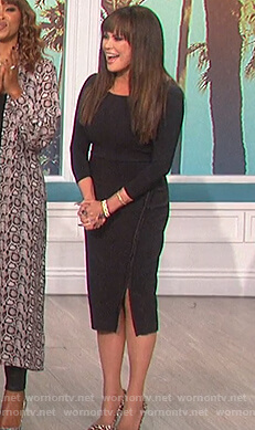 Marie's black sheath dress on The Talk
