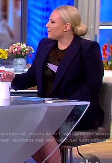 Meghan's black printed dress on The View