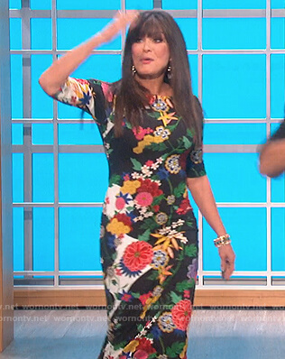 Marie's floral print midi dress on The Talk